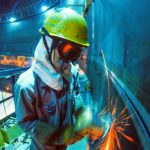 Welder using environmental protection solutions